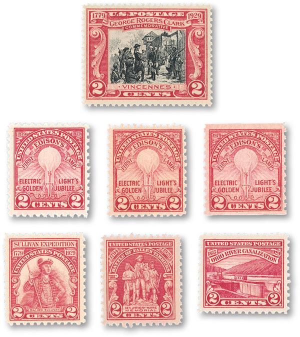 1929 Commemorative Stamp Year Set