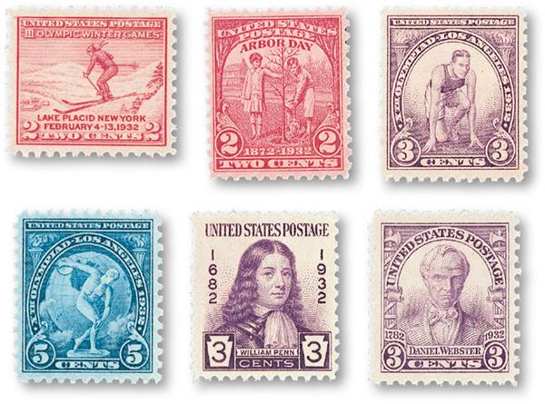 1932 Commemorative Stamp Year Set