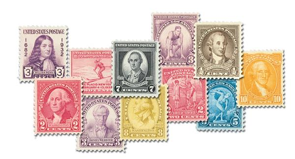 1932 Complete Commemorative Year Set, 18 stamps