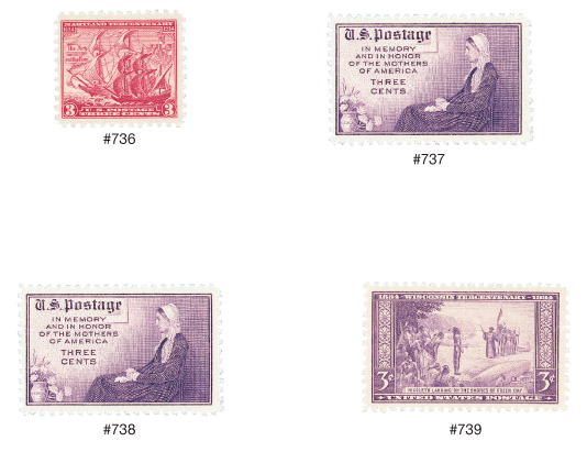 1934 Commemorative Stamp Year Set