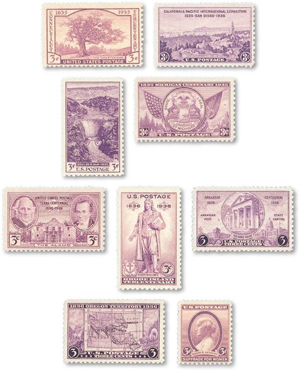 1935-36 Commemorative Stamp Year Set