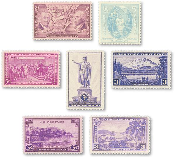 1937 Commemorative Stamp Year Set
