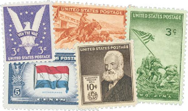 1940s Commemoratives 127 stamps