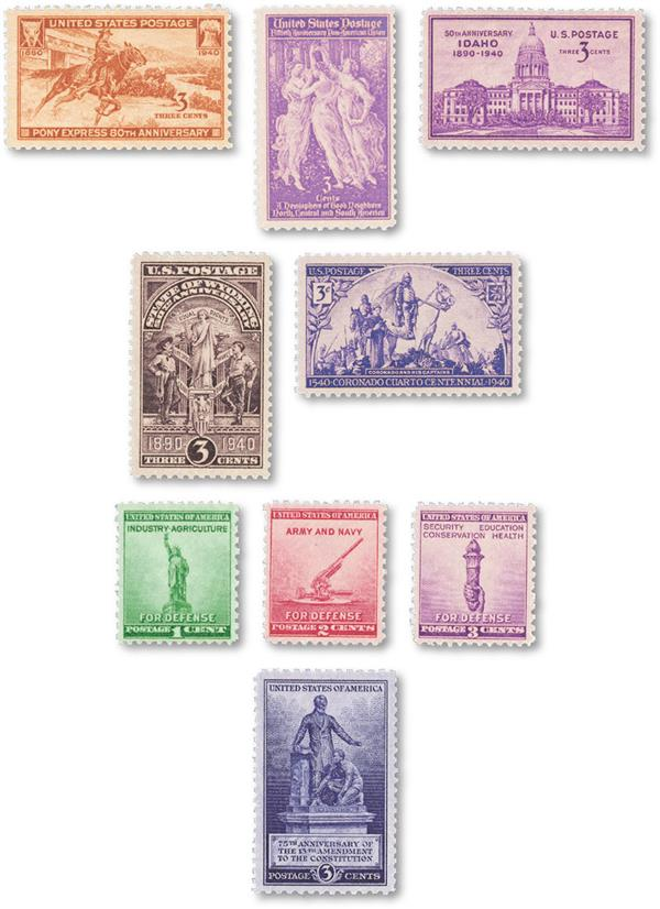 1940 Commemorative Stamp Year Set