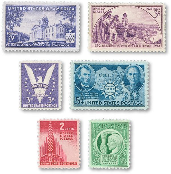 1941-43 Commemorative Stamp Year Set