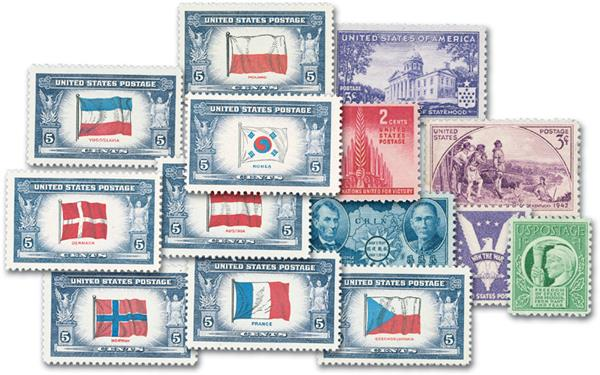 1941-43 Complete Commemorative Year Sets