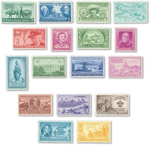 1949-50 Commemorative Stamp Year Set