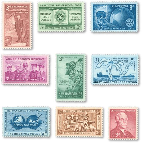 1955 Commemorative Stamp Year Set
