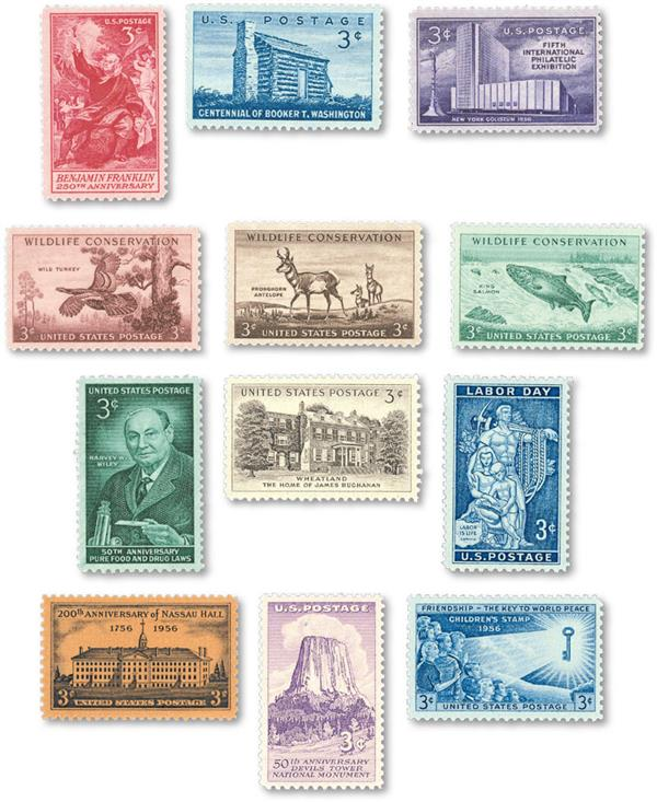 1956 Commemorative Stamp Year Set