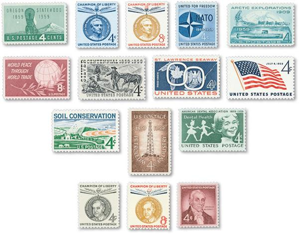 1959 Commemorative Stamp Year Set