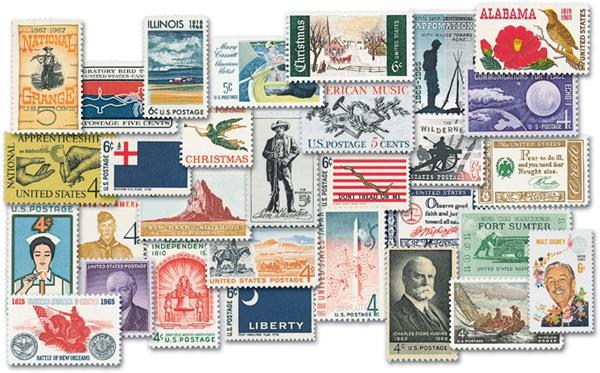 1960-69 Complete Commemorative Decade Set - 195 stamps