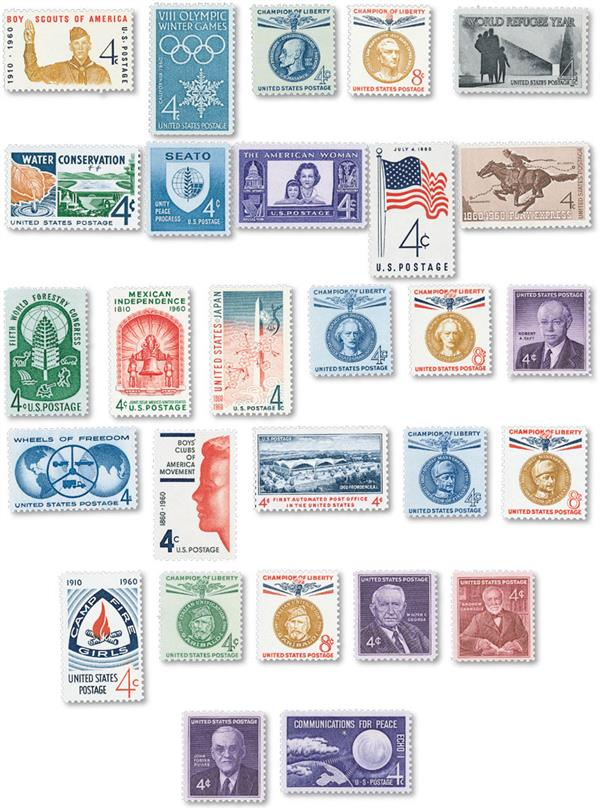 1960 Commemorative Stamp Year Set