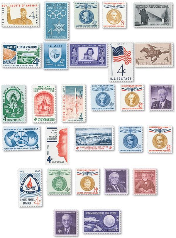 1960 Commemorative Stamp Year Set