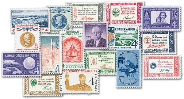 1960 Complete Commemorative Year Set, 35 stamps