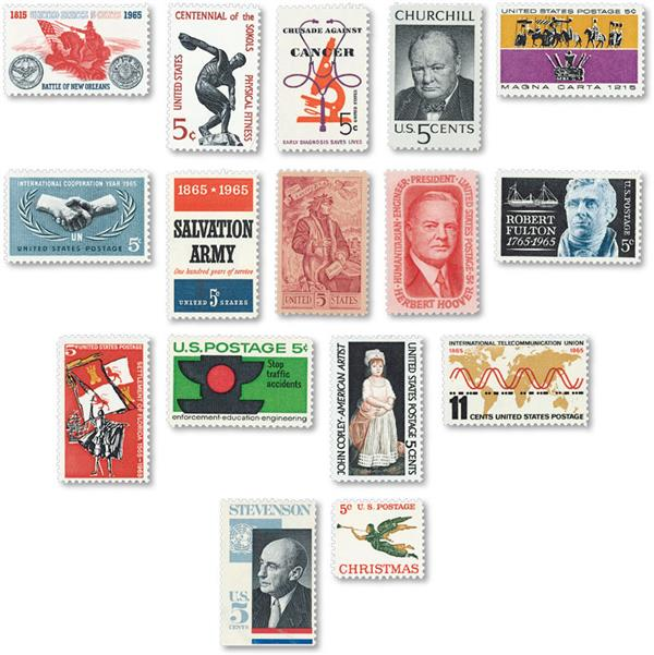 1965 Commemorative Stamp Year Set