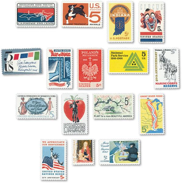 1966 Commemorative Stamp Year Set