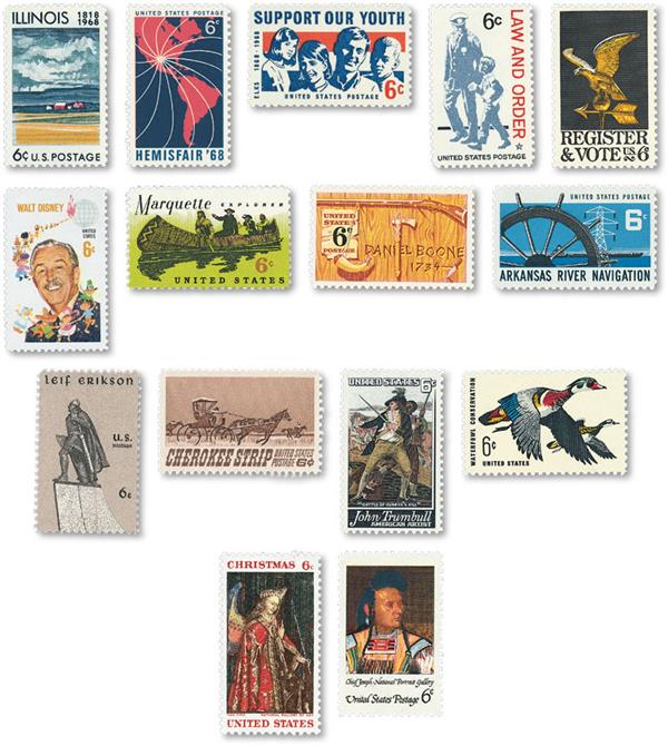 1968 Commemorative Stamp Year Set