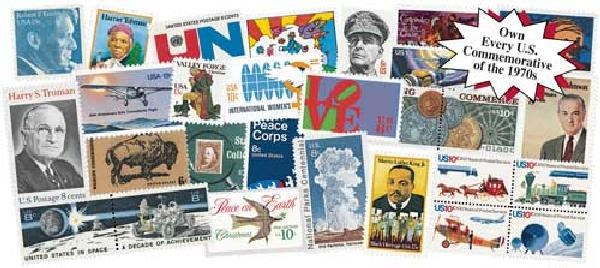1970s Commemoratives, 321 stamps