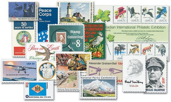 1970-79 Complete Commemorative Decade Set - 343 stamps