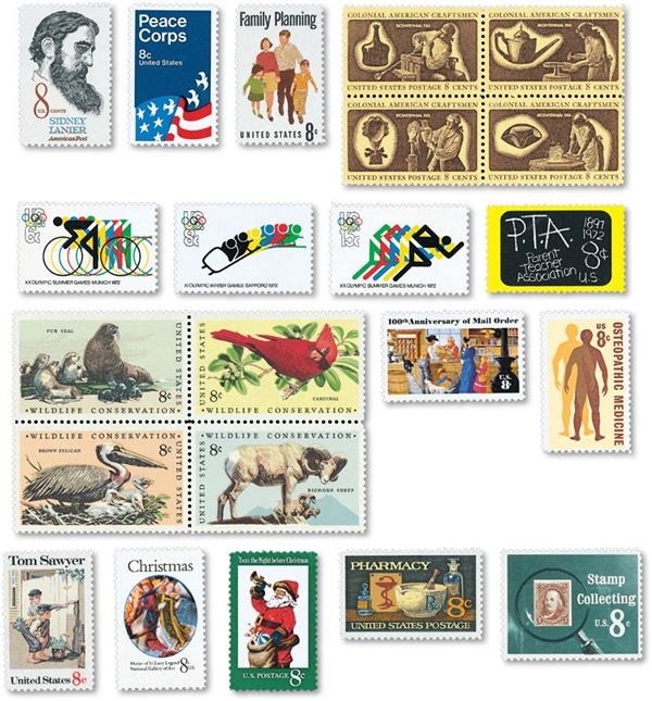 1972 Commemorative Stamp Year Set