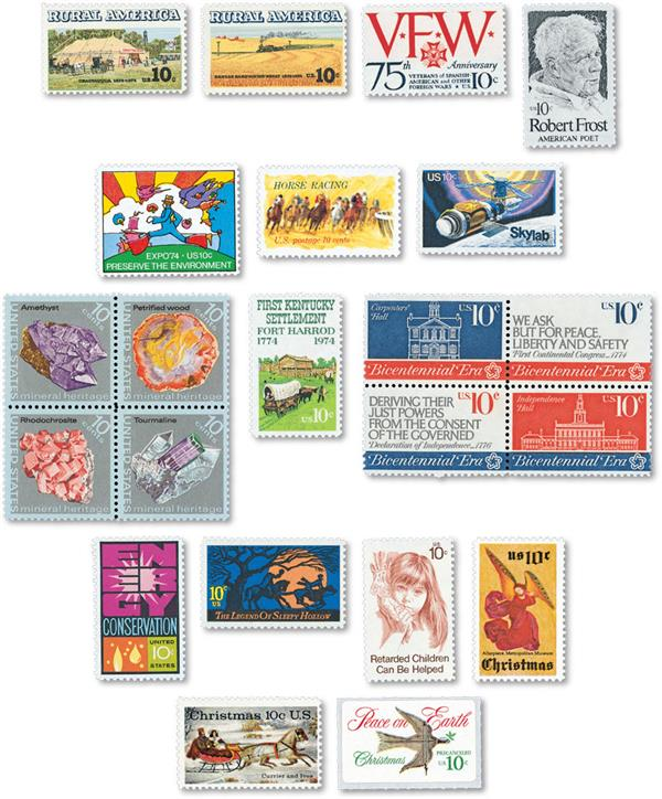 1974 Commemorative Stamp Year Set