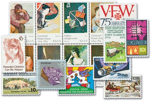 1974 Complete Commemorative Year Set, 30 stamps
