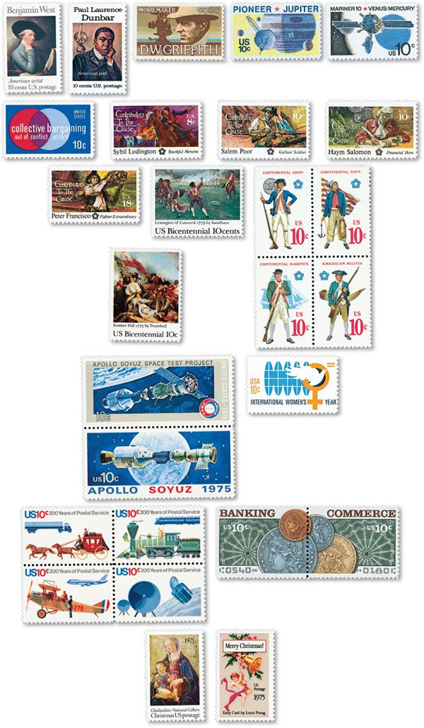 1975 Commemorative Stamp Year Set
