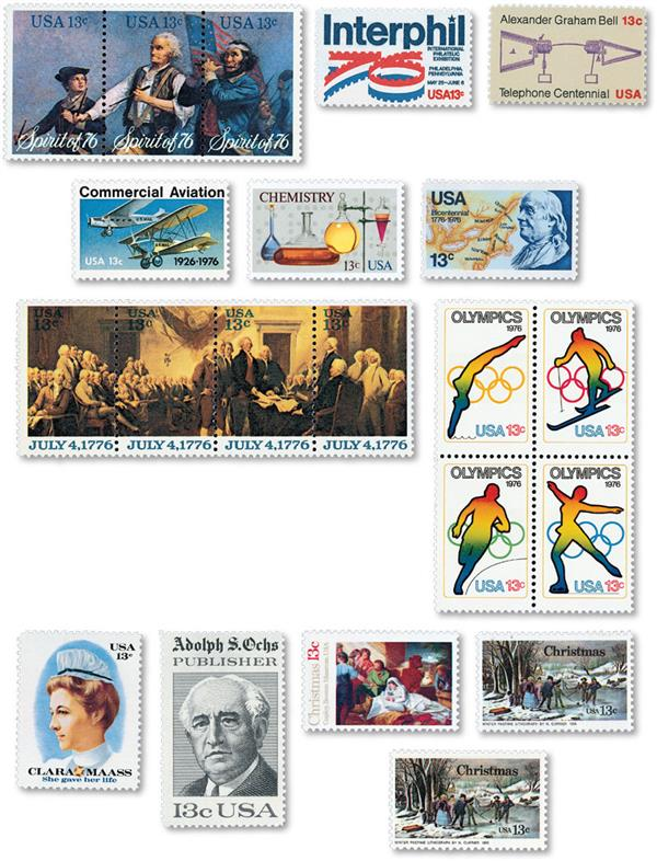 1976 Commemorative Stamp Year Set