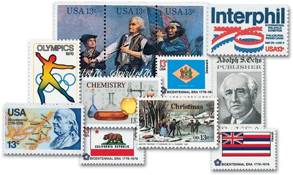 1976 Complete Commemorative Year Set, 85 Stamps