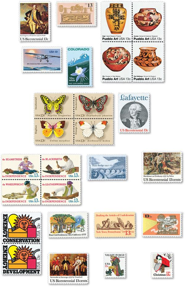 1977 Complete Commemorative Year Set, 27 stamps