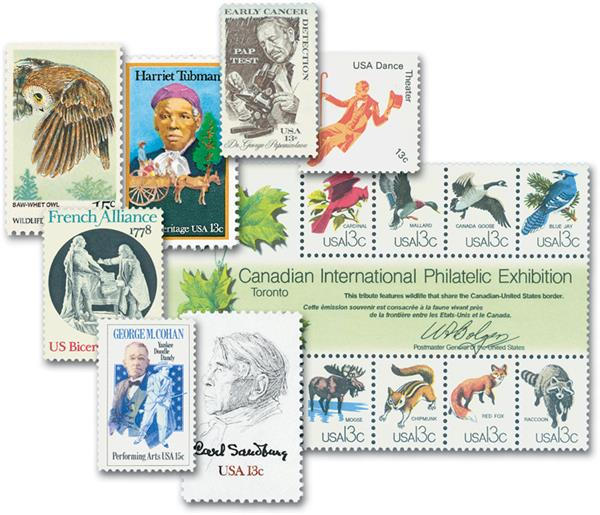 1978 Complete Commemorative Year Set, 36 stamps