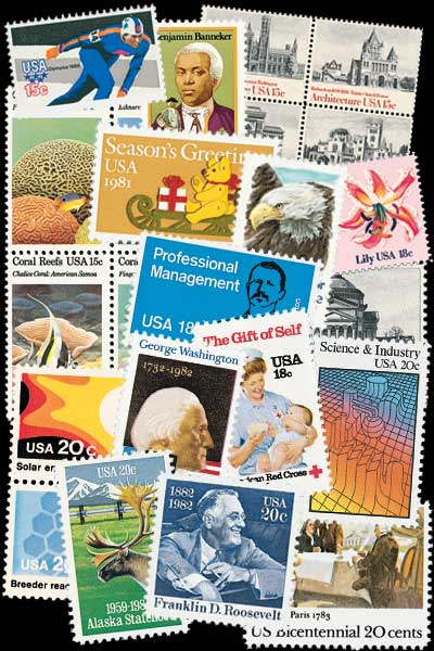 1980-84 US Commemoratives, 236 stamps