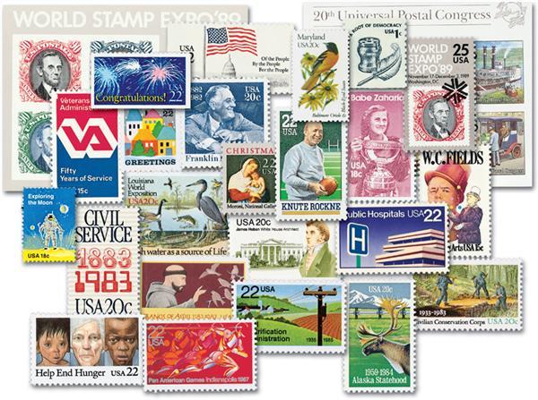 1980-89 Complete Commemorative Decade Set - 499 stamps