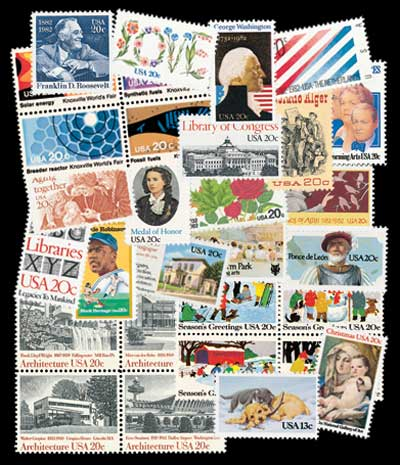 1982 Commemorative Stamp Year Set