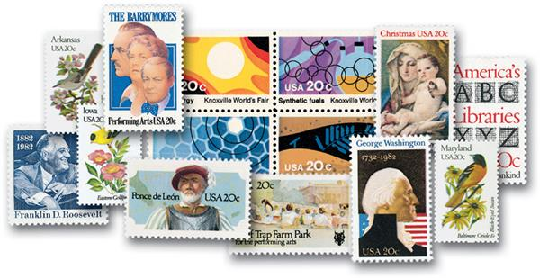 1982 Complete Commemorative Year Set, 80 stamps
