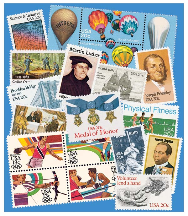 1983 Complete Commemorative Year Set, 35 stamps