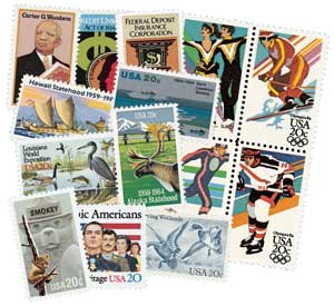 1984 Complete Commemorative Year Set, 44 stamps