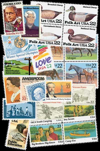 1985 Commemorative Stamp Year Set