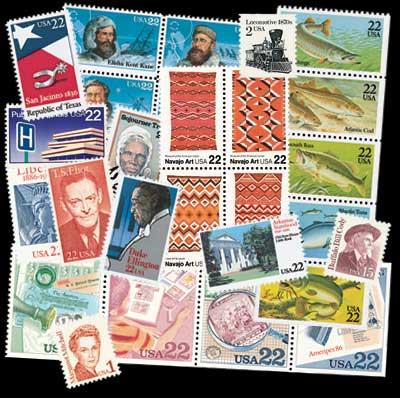 1986 Commemorative Stamp Year Set