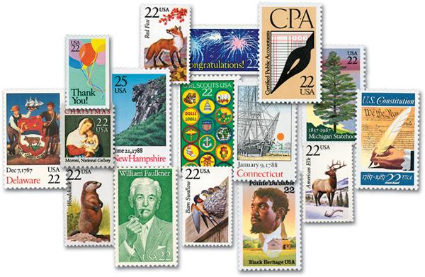 1986 Complete Commemorative Year Set, 100 stamps
