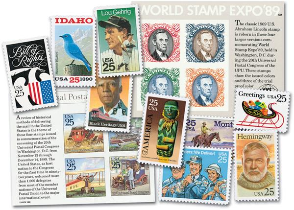 1989 Complete Commemorative Year Set, 39 stamps