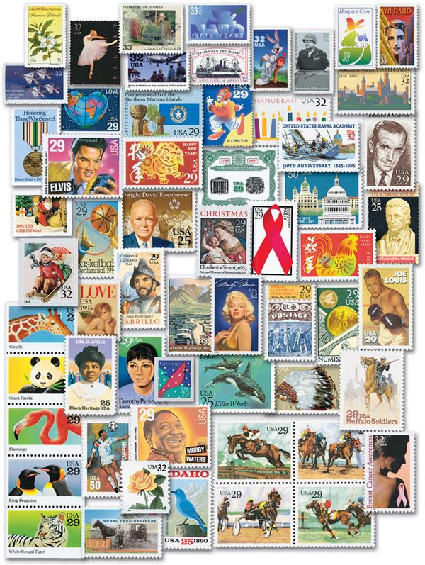 1990s Commemoratives, 540 stamps