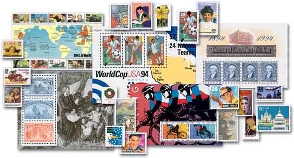1990-99 Complete Commemorative Decade Set - 1,106 Stamps