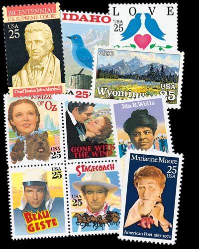 1990 Commemorative Stamp Year Set