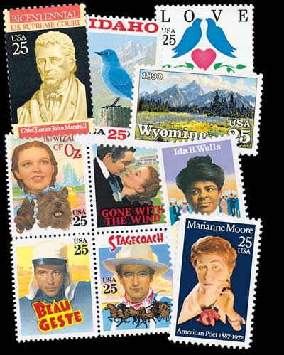 1990 Complete Commemorative Year Set, 37 stamps