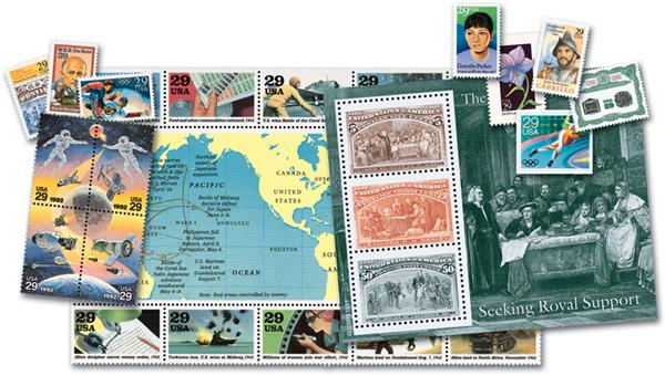 1992 Complete Commemorative Year Set, 128 stamps