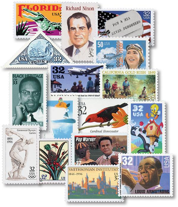1995-99 US Commemoratives 625v