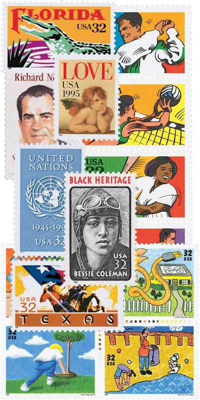 1995 Commemorative Stamp Year Set