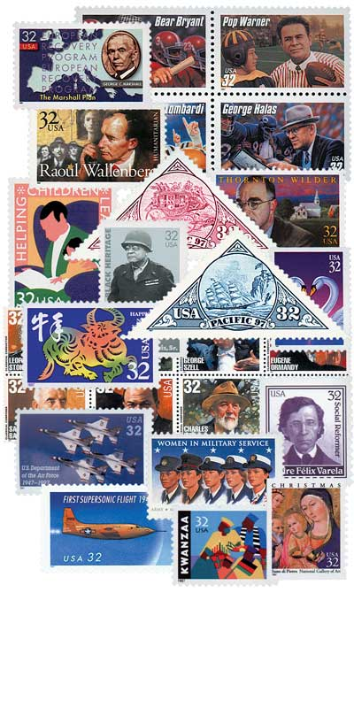 1997 Commemorative Stamp Year Set