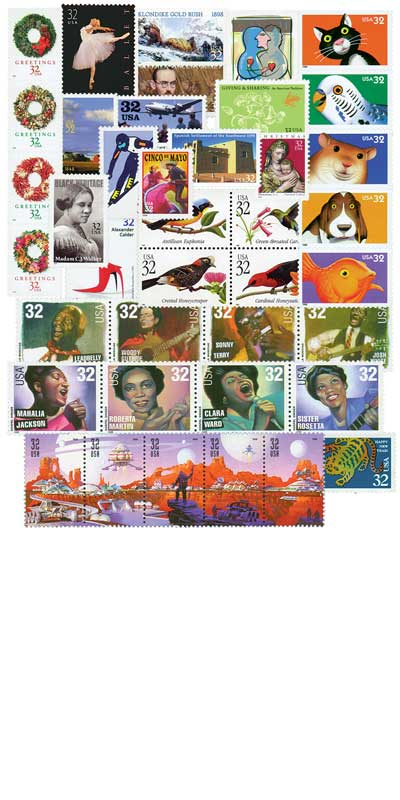 1998 Commemorative Stamp Year Set